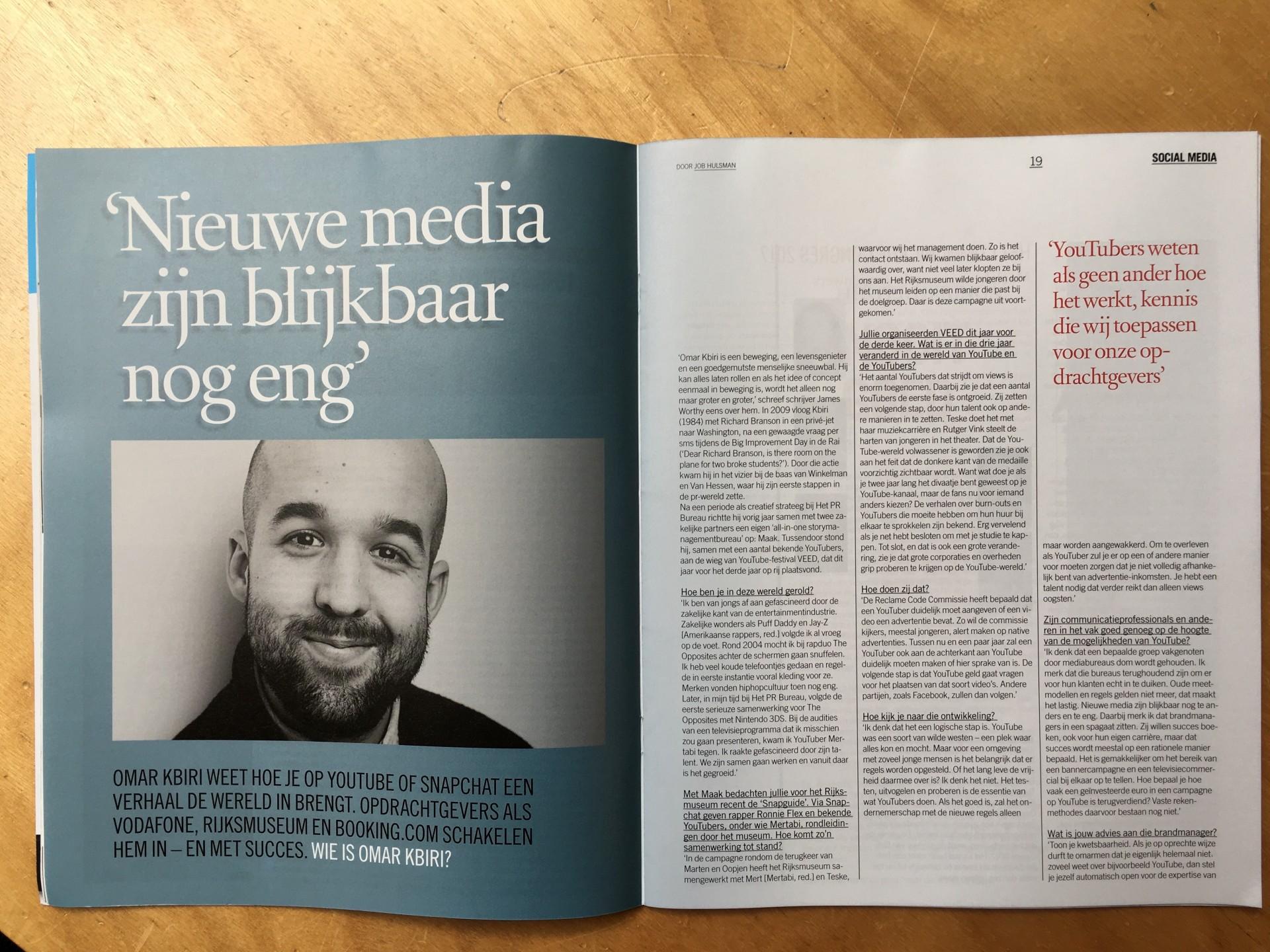 Interview: Omar Kbiri (Maak) over de wereld van nieuwe media
